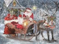 Santa's Little Helper Fine Art Print