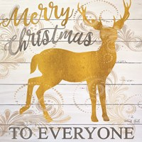 Merry Christmas Deer Fine Art Print