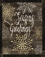 Snowflake Seasons Greetings Fine Art Print