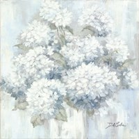 White Hydrangeas Fine Art Print