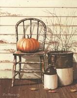 Pumpkin & Chair Fine Art Print