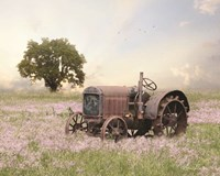 Tractor at Sunset Fine Art Print