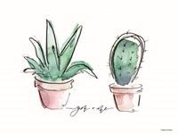 You and Me Cactus Fine Art Print