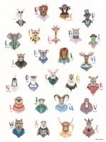 Animal Alphabet Poster Fine Art Print