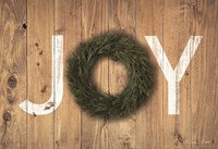Joy Cedar Wreath Fine Art Print