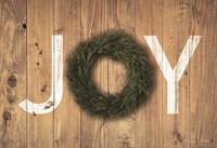 Joy Cedar Wreath Fine Art Print