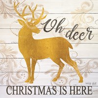 Oh Deer Christmas is Here Fine Art Print
