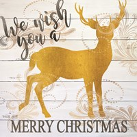 We Wish You a Merry Christmas Deer Fine Art Print