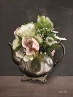 Vintage Floral Tea Pot Fine Art Print