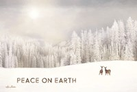 Lava Mountain Snow Storm with Deer Fine Art Print