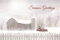 Season's Greetings with Truck Fine Art Print