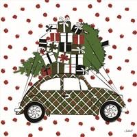 Christmas Car Fine Art Print