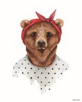 Bear in Bandana Fine Art Print