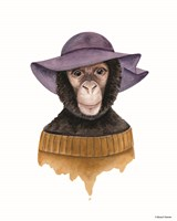 Cozy Chimp Fine Art Print
