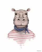 Hippo in Handkerchief Fine Art Print