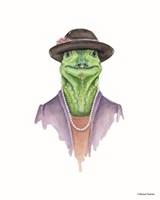 Iguana in Sunday Best Fine Art Print