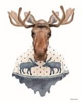 Moose in a Moose Sweater Fine Art Print