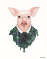 Pig in Plaid Fine Art Print