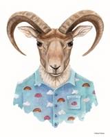 Uriel in a Unicorn Shirt Fine Art Print