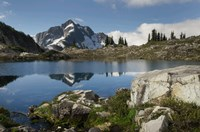 Whatcom Peak Reflected In Tapto Lake, North Cascades National Park Fine Art Print