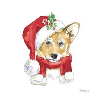 Holiday Paws VIII on White Fine Art Print