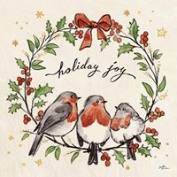 Christmas Lovebirds IV Fine Art Print