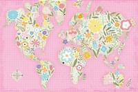 Floral World Pink Fine Art Print