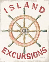 Floursack Nautical IV Red Fine Art Print