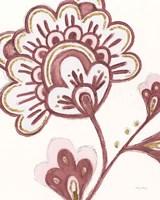 Flora Chinoiserie VI Pink Framed Print