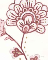 Flora Chinoiserie III Pink Framed Print
