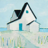 Cottage by the Sea Neutral Fine Art Print