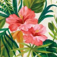 Tropical Jewels II v2 Pink Crop Fine Art Print