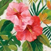 Tropical Jewels I v2 Pink Crop Fine Art Print