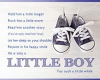 Little Boy Poem Fine Art Print