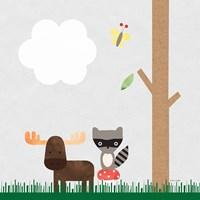 Woodland Animals I Fine Art Print