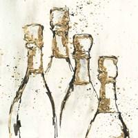 Champagne is Grand II Gold Fine Art Print