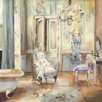 Boudoir Bath II Gray Fine Art Print