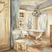 Boudoir Bath I Gray Fine Art Print
