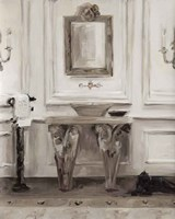 Classical Bath I Gray Fine Art Print