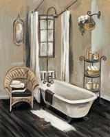 French Bath II Black v2 Fine Art Print