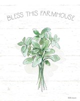 Farmhouse Cotton VI Sage Fine Art Print