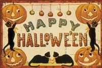 Halloween Nostalgia Happy Halloween Fine Art Print