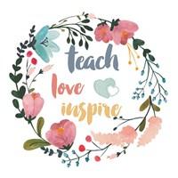 Harriet Floral Teacher Inspiration I Fine Art Print