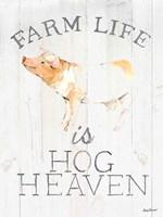 Farm Life wood Fine Art Print