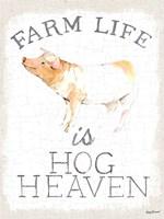 Farm Life burlap Fine Art Print