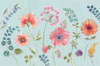Gypsy Meadow I Blue Fine Art Print
