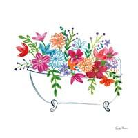 Floral Bathroom I Fine Art Print