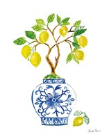 Lemon Chinoiserie II Fine Art Print