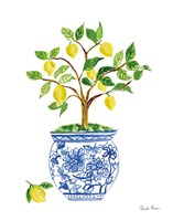 Lemon Chinoiserie I Fine Art Print
