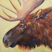 Chocolate Moose Fine Art Print
